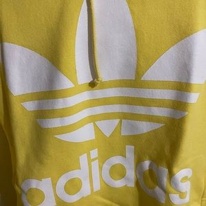 Adidas hoodies yellow sz XS